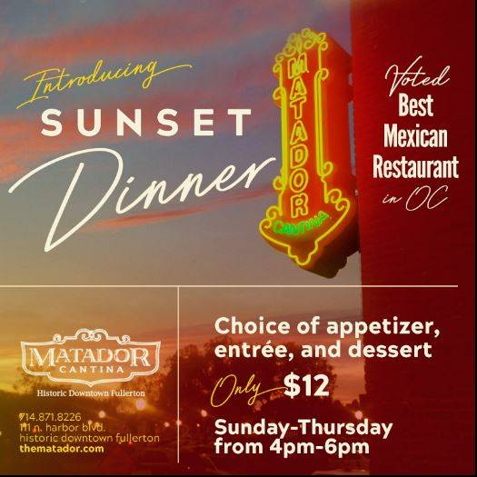 Three-Course Sunset Dinner