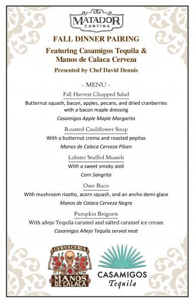 Fall Dinner Pairing | Matador Cantina